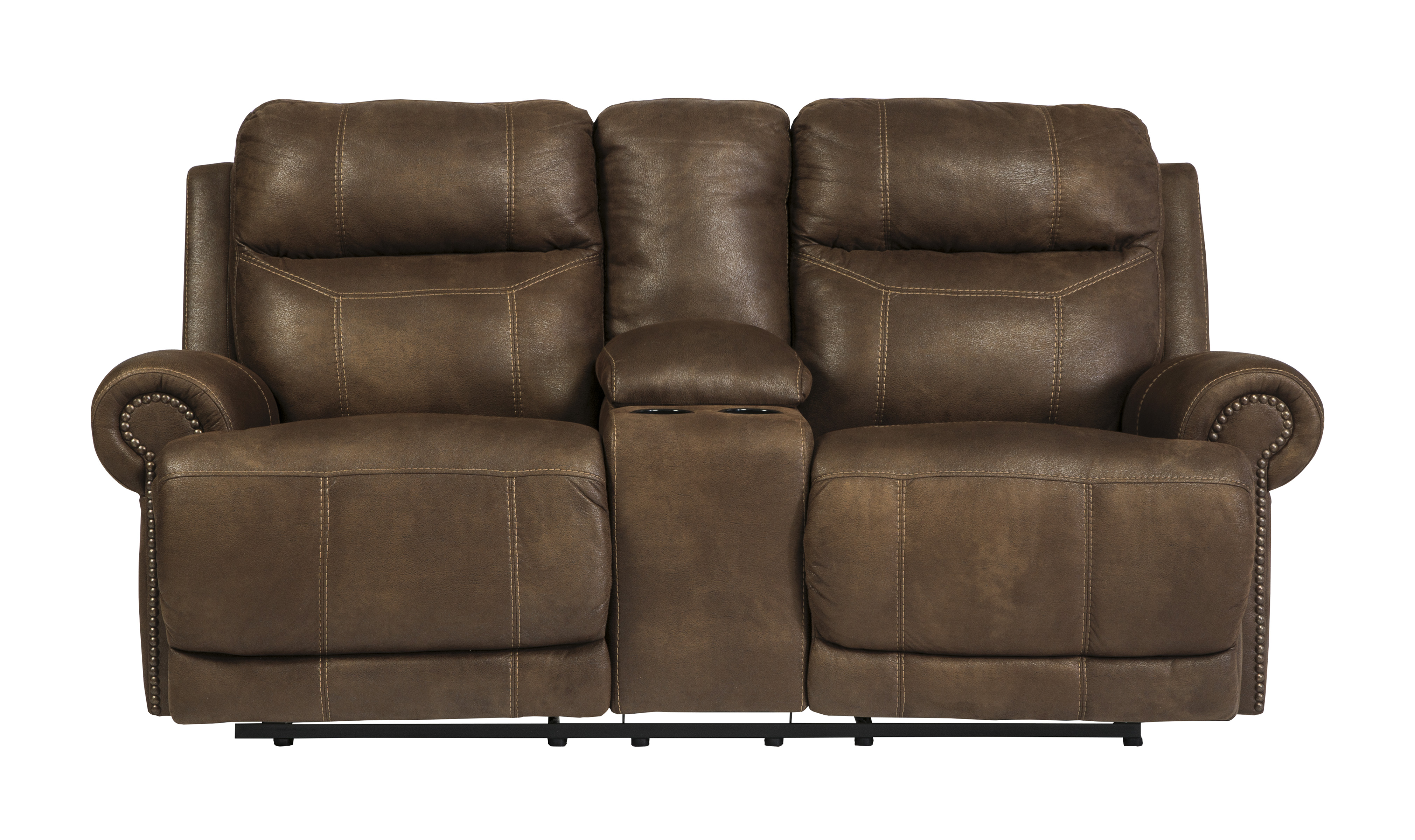 Ashley Austere Double Reclining Loveseat W Console